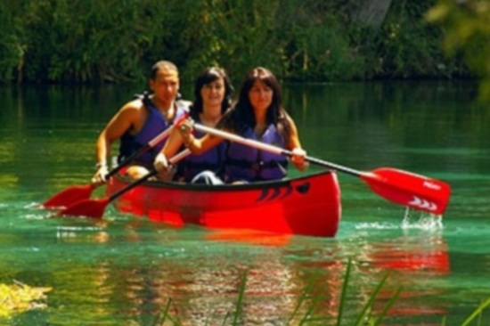 Canoeing the Tirino River