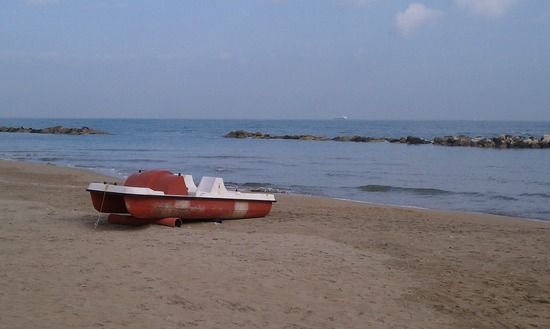 The Adriatic Beach near Pescara